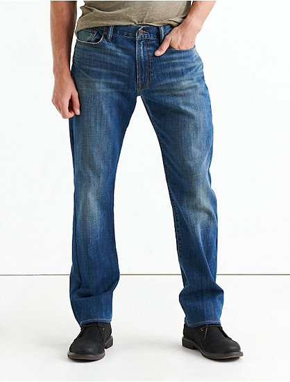 LUCKY BRAND 363 Straight Jean Paradise Valley