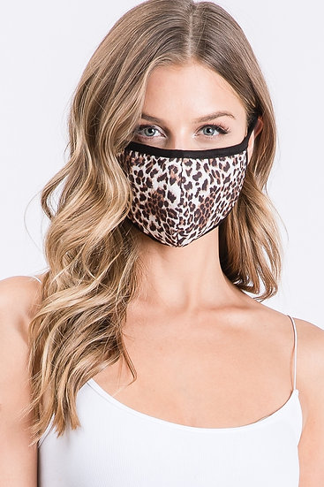 Leopard Print Protective face cover mask