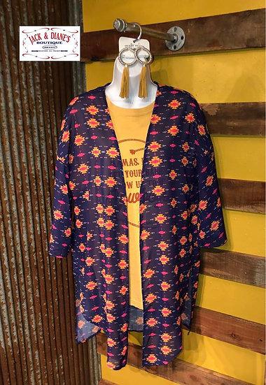 Wide Open Spaces Aztec Print Kimono