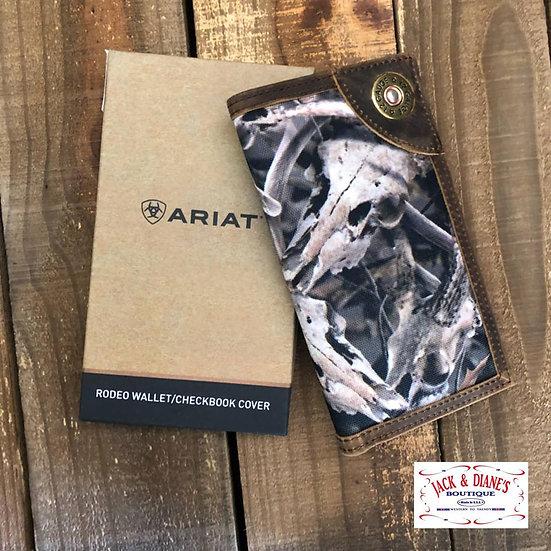 ARIAT Camo Shot Gun Shell Rodeo Wallet Check Book