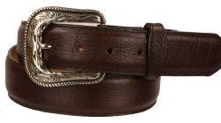 B32 - RockinLeather Mocha Bullhide Leather Belt