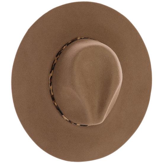 C.C Leopard Trim Wool Felt Hat