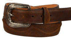 B35 - RockinLeather Crazy Tan Cowhide Leather Belt