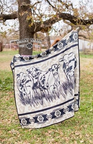 Crazy Train Kids Cattle Cover Blanket
