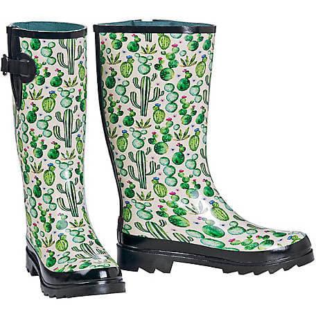 Blazin Roxx Women's Cacti Rubber Round Toe Rain Boot