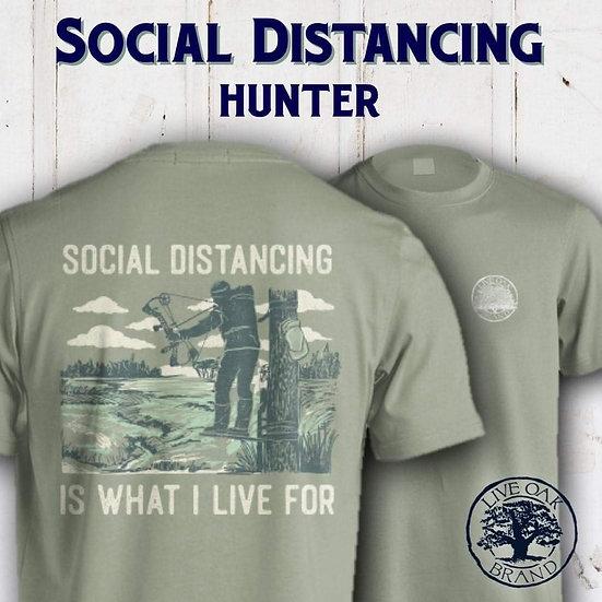 Live Oak Brand SOCIAL DISTANCING (HUNTER) Tee