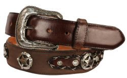 B13 - RockinLeather Crazy Chocolate Cowhide Leather Belt