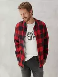 Lucky Brand Reversible San Gabriel 1 Pocket Men's Pearl Snap Shirt