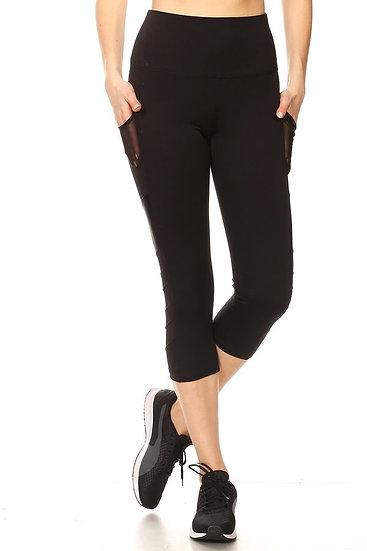 Mesh Capris Leggings yoga Pants