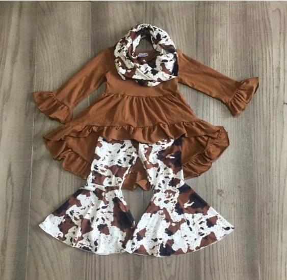 Cow Bell and Scarf Set