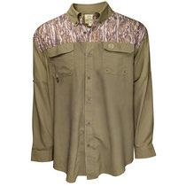HEYBO- Olive/Bottomland L/S Fishing Shirt