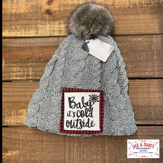 Baby it's Cold Outside Beanie with Pompom