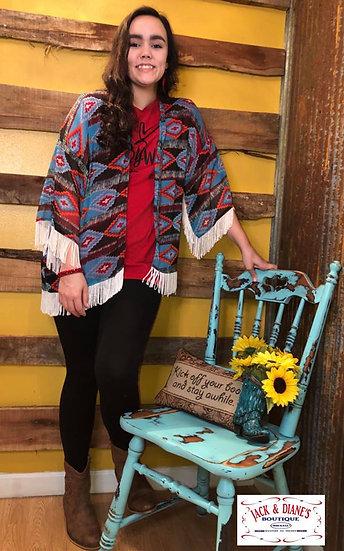 Rock & Roll Cowgirl Western Fringe Kimono