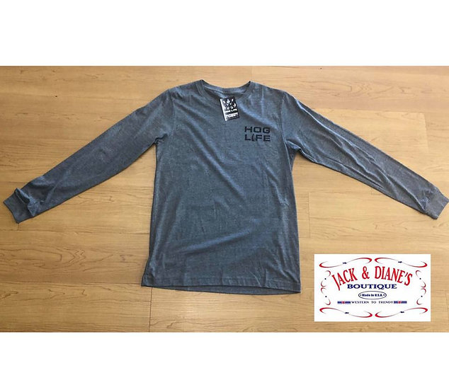 OUTDOOR CREW Hog Life Flag Long Sleeve 2