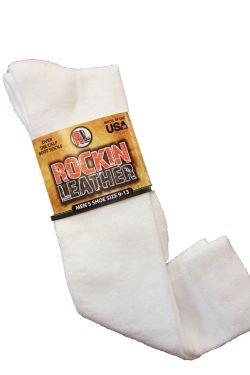 Rockin Leather- 662 White Boot Socks