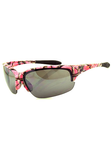 Pink Camouflage Sporty Sunglasses