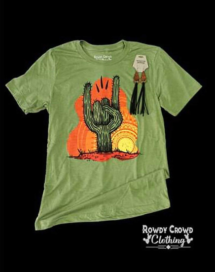 Rowdy Crowd Clothing Rock On Cactus Tee