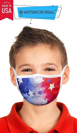 KIDS MASK AMERICAN FLAG TIE DYE