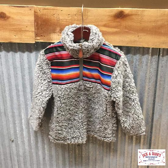 kids Sherpa Serape 3/4 Zipper Pullover