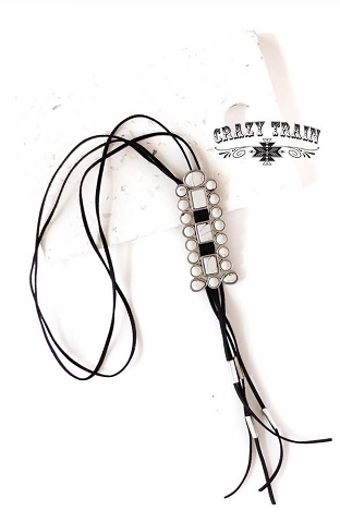Crazy Train Blazing Trail White Bolo
