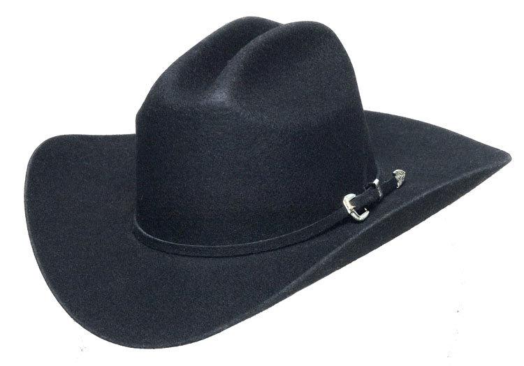Western Express Black Wool Felt Hat