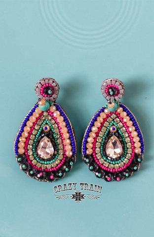 Crazy Train Queen Earrings