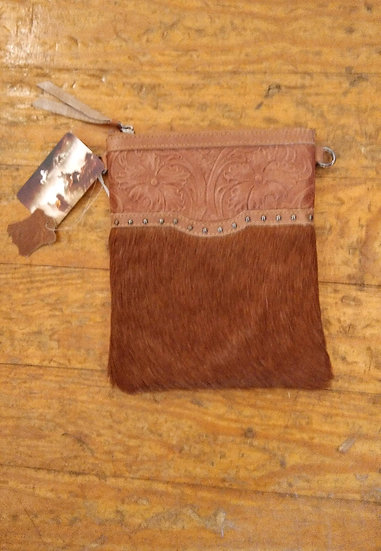 Montana West Leather and Tan Hide Handbag