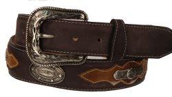 B42 - RockinLeather Crazy Mocha Cowhide Leather Belt