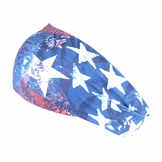 Made in the USA Bani Bands Star Spangled Cooling Headband with Buttons