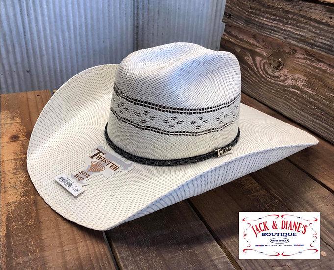 Twister Bangora Ivory and Grey Mens Cowboy Hat