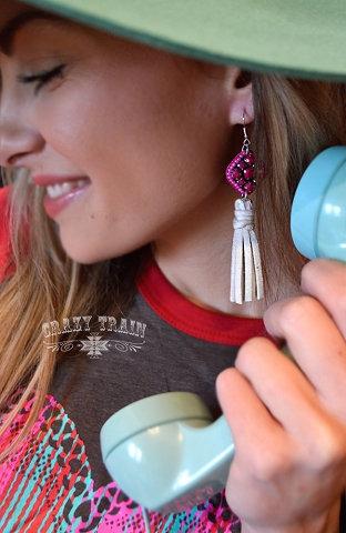 Crazy Train - Candy Fringe Earrings