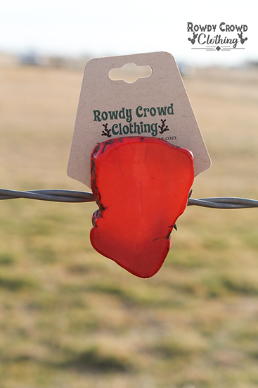 Rowdy Crowd Red Rock Tee Clip or Scarf Slider