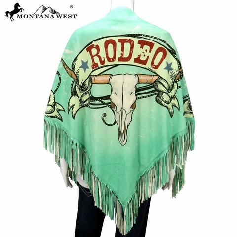 Montana West USA Rodeo Print Shawl