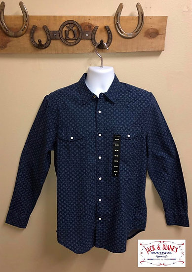 Lucky Brand Long Sleeve Pearl Snap Classic Fit Western Detail Shirt