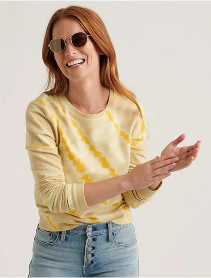 Lucky Brand Tie Dye Crew Neck Sweatshirt