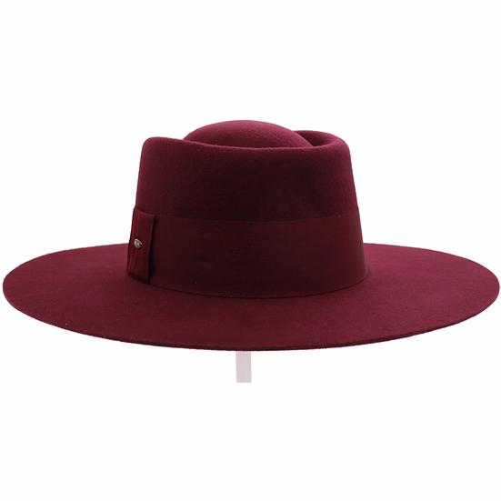 C.C Wide Band Trim Wool Felt Panama Hat