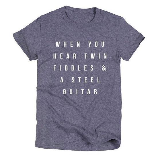 Ruby's Rubbish When You Hear Twin Fiddles Men's T-Shirt