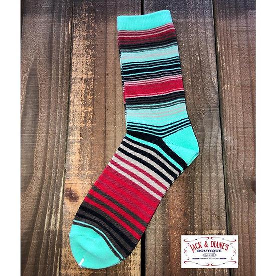 Crazy Train Saginaw Serape Socks