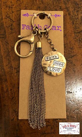 Faith Gear Women's Keychain Faith Hope Love