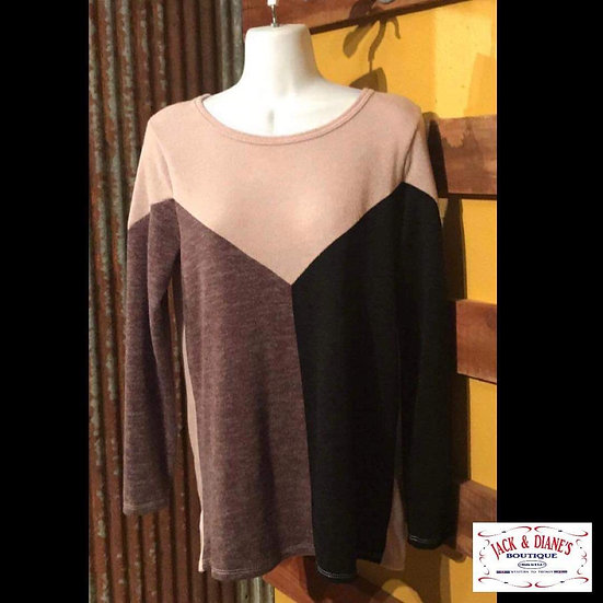 Super Soft Color Block Long Sleeve Sweater