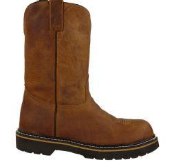 3104 - RockinLeather Men's Distressed Tan Steel Toe Work Boot
