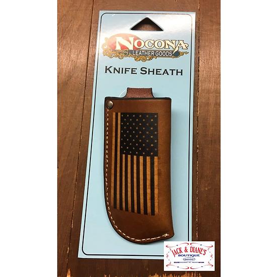 Nocona Leather USA Flag Knife Sheath