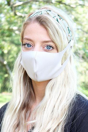 Button Headband Face Mask Holder
