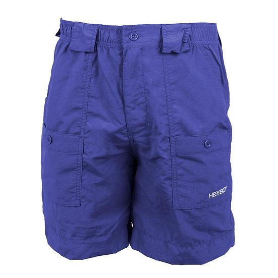 HEYBO Flat Shorts - Navy