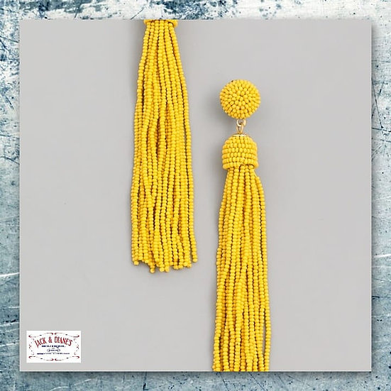 Mini Bead Tassel Earrings