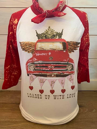 Loaded Up On Love Vintage Long Sleeve Red Sequin Top