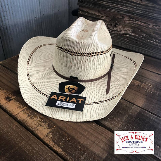 ARIAT BANGORA 2 Cord Golden Brown Band with Eyelets and Comfort Sweatband