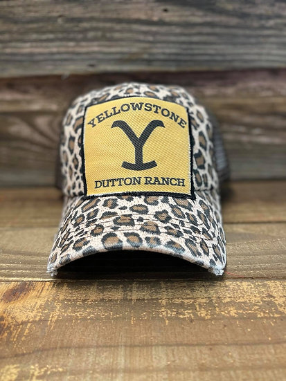 Yellowstone Dutton Ranch Leopard Print Cap