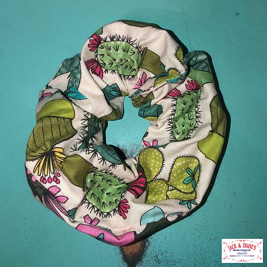 Southern Belle Design Cactus Scrunchie