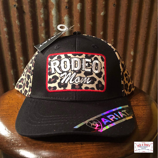 Ariat Womens RODEO MOM Baseball Cap Snap Back Leopard Fabric
